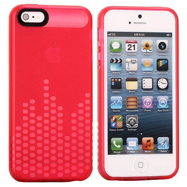 Global DJ (Röd) iPhone 5/5S Silikonskal