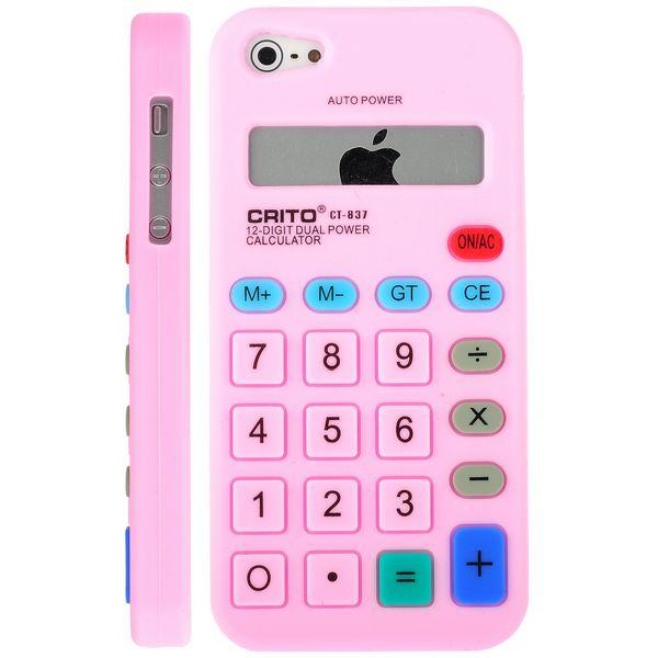 Calculator (Rosa) iPhone 5 & 5S Silikonskal