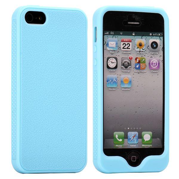 FullFront Soft Shell (Ljusblå) iPhone 5/5S Silikonskal