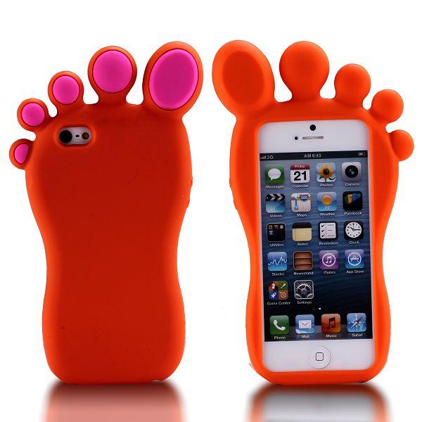 iFoot (Orange) iPhone 5S Silikonskal