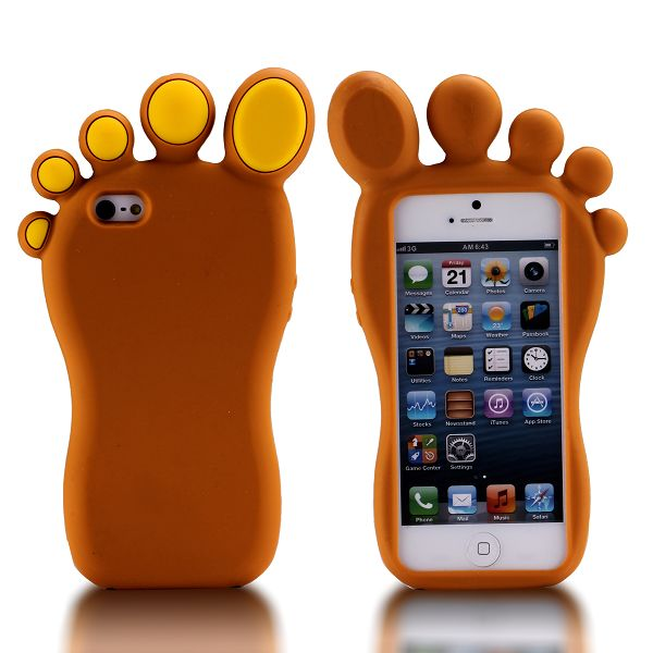 iFoot (Brun) iPhone 5S Silikonskal