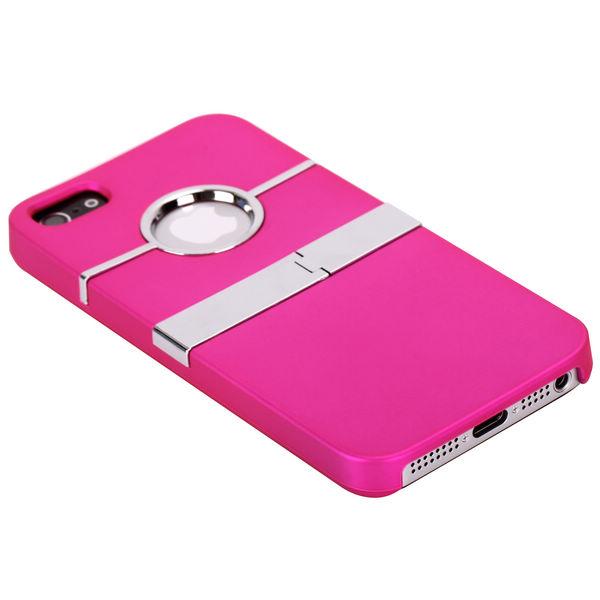 Chrome Kick-Stand (Rosa) iPhone 5 Skal