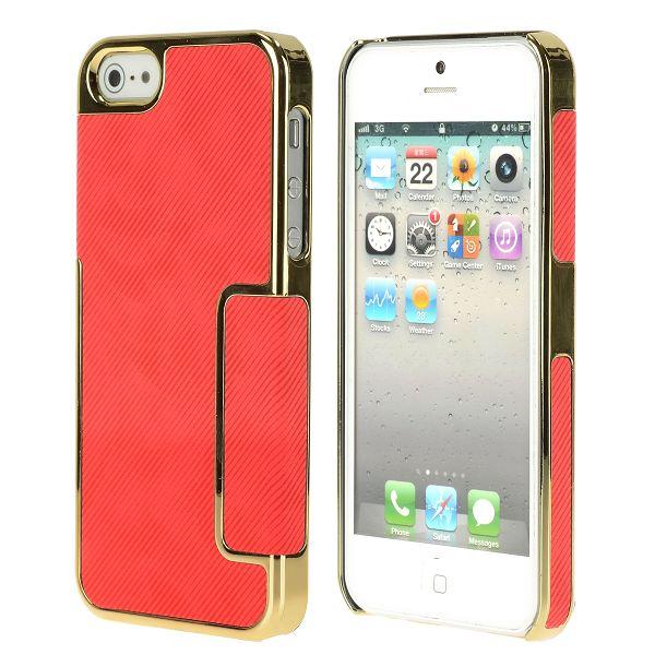 Carbonite – Golden Chrome Edge (Röd) iPhone 5 Skal
