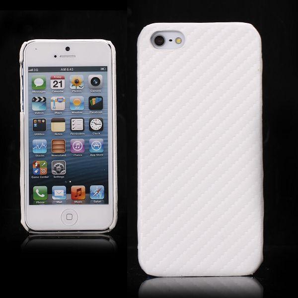 Carbon (Vit) iPhone 5 Skal