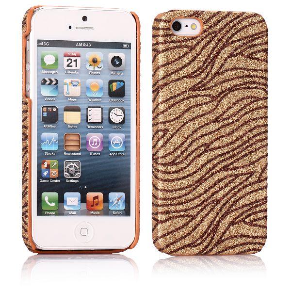 Glitter Wave (Brons – Kaffe) iPhone 5 Skal