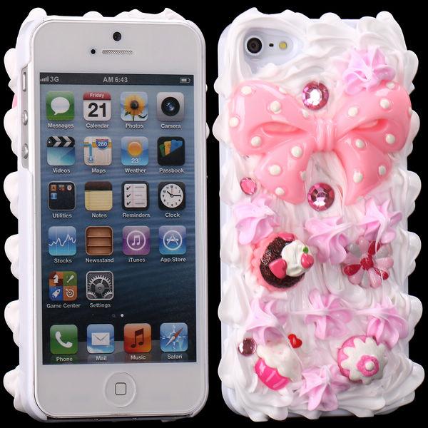 3D Cuties Ceramic (Rosa Rosett) iPhone 5/5S Skal