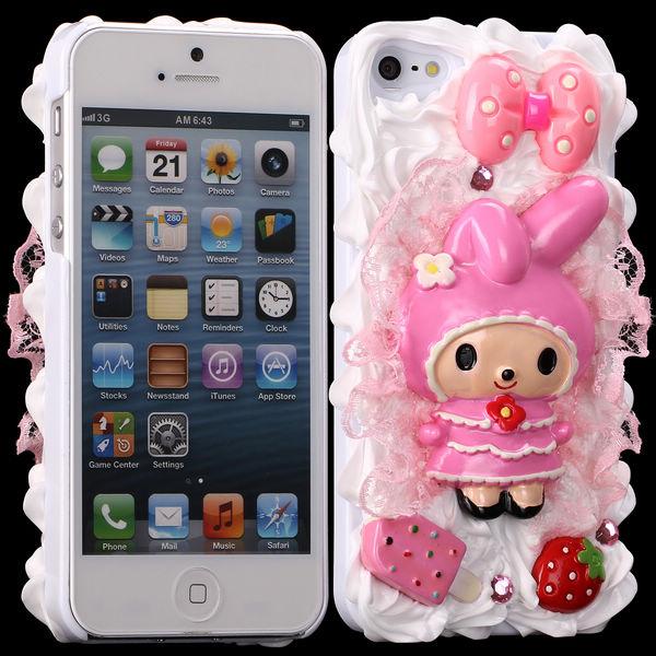 3D Cuties Ceramic (Barn & Rosett) iPhone 5/5S Skal