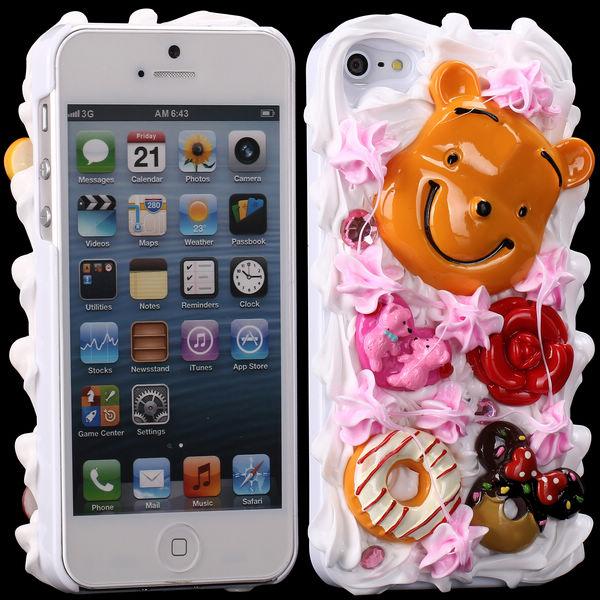 3D Cuties Ceramic (Leende Björn) iPhone 5/5S Skal