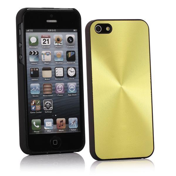 Alu CD-Lines (Gul) iPhone 5 Skal