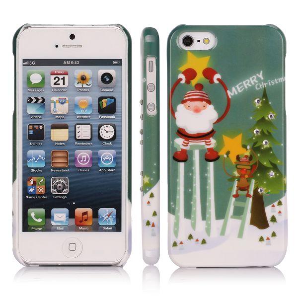 Merry Christmas Bling (Tomtens Stjärna) iPhone 5 Skal