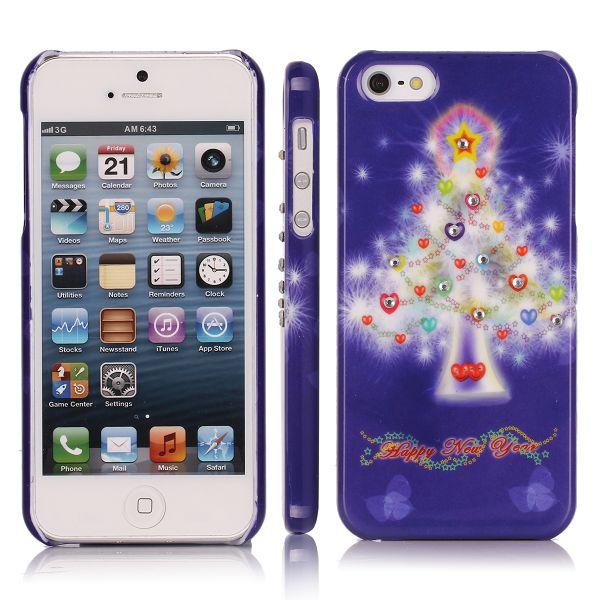 Merry Christmas Bling (Fantasi-Träd) iPhone 5 Skal