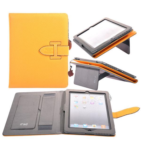 Exekutiv Genuint iPad 3/iPad 4 Läderfodral (Gul)