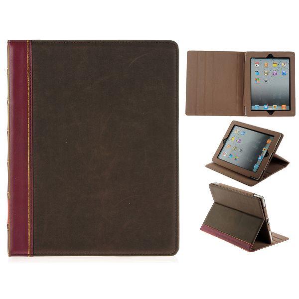 Retro Genuint Läderfodral för iPad 3/iPad 4 (Klassisk)