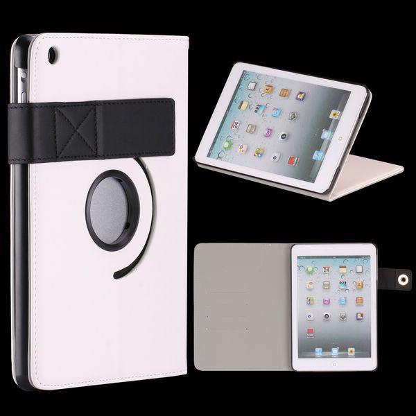 InCo iPad Mini Läderfodral – Stativ med Flipfunktion och 360? Rotation (Vit)