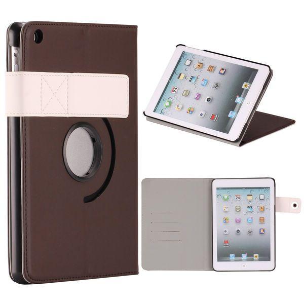 InCo iPad Mini Läderfodral – Stativ med Flipfunktion och 360? Rotation (Kaffe)