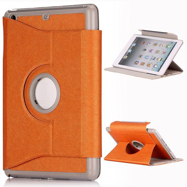 iColor iPad Mini Läderfodral – 360 Graders Rotations-Stativ Flipfunktion (Orange)