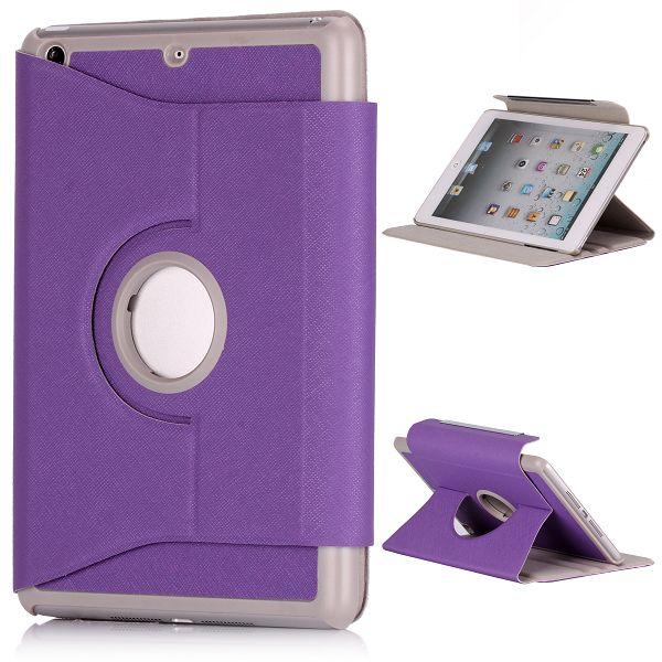 iColor iPad Mini Läderfodral – 360 Graders Rotations-Stativ Flipfunktion (Lila)