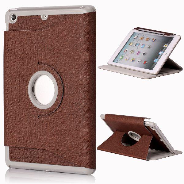 iColor iPad Mini Läderfodral – 360 Graders Rotations-Stativ Flipfunktion (Brun)