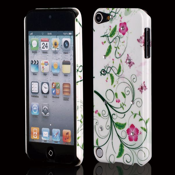 Valentine Bling (Slimma Gröna Blommor) iPod Touch 5 Skal