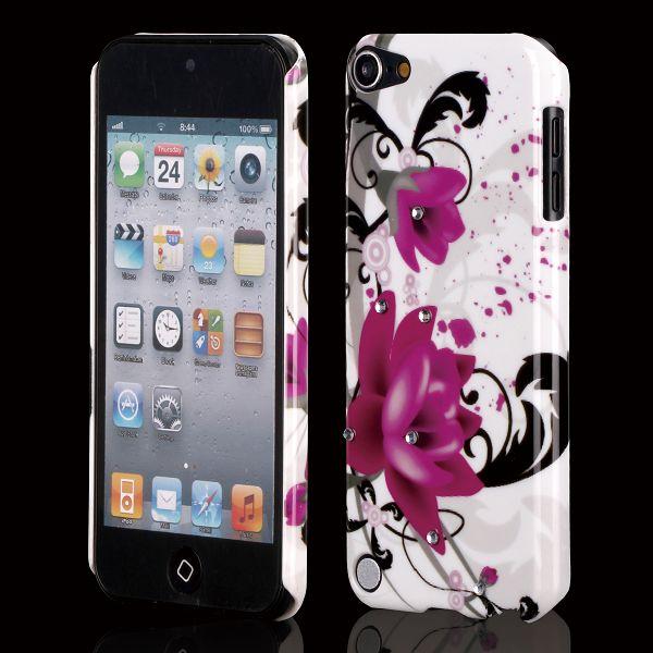 Valentine Bling (Två Lila Blommor) iPod Touch 5 Skal