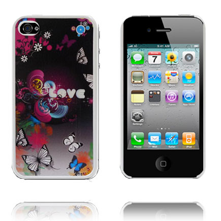 Adventure (Kärlek/Fjärilar) iPhone 4 Skal
