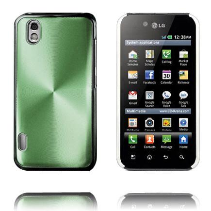 Aluminium Shield (Grön) LG Optimus Black Skal
