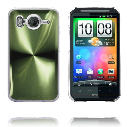 Aluminium Blade – Transparent Edge (Grön) HTC Desire HD Skal