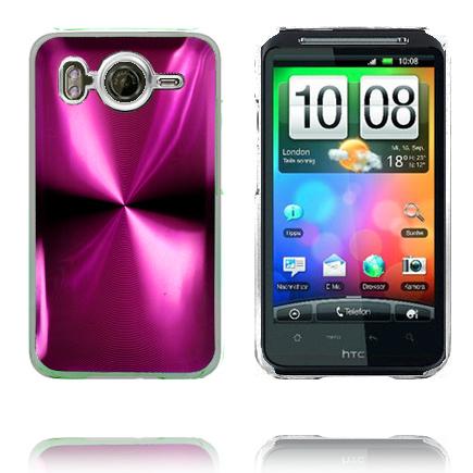 Aluminium Blade – Transparent Edge (Rosa) HTC Desire HD Skal