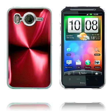 Aluminium Blade – Transparent Edge (Röd) HTC Desire HD Skal