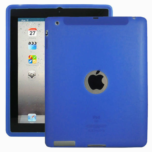 Mjukskal Logo (Blå) iPad 3/iPad 4 Skal