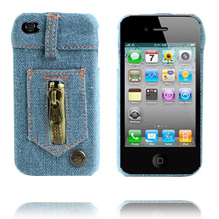 Blue Jeans (Ljusblå) iPhone 4 Skal