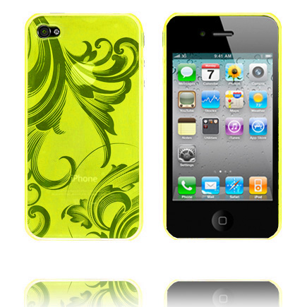 Caribia (Gul) iPhone 4 Silikonskal