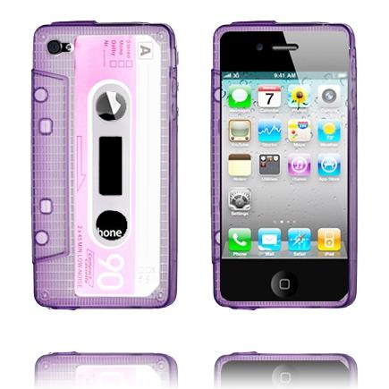 Cassette Skal Semi-Transparent (Lila) iPhone 4/4S Silikonskal