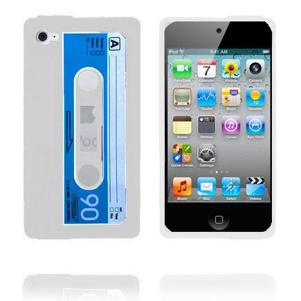 Cassette Skal (Vit) iPod Touch 4 Silikonskal