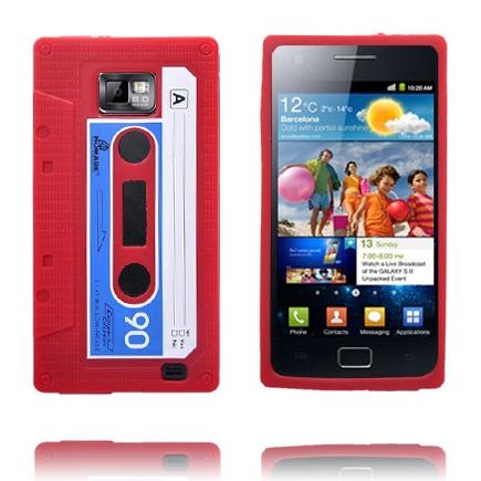 Cassette Tape (Röd) Samsung Galaxy S2 Skal