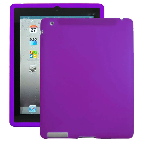 Mjukskal (Lila) iPad 3 Skal / iPad 4 Skal