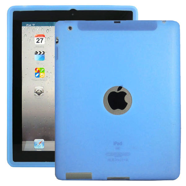 Mjukskal Logo (Ljusblå) iPad 3/iPad 4 Skal