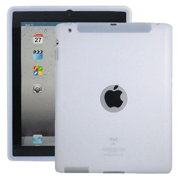 Mjukskal Logo (Vit) iPad 3/iPad 4 Skal