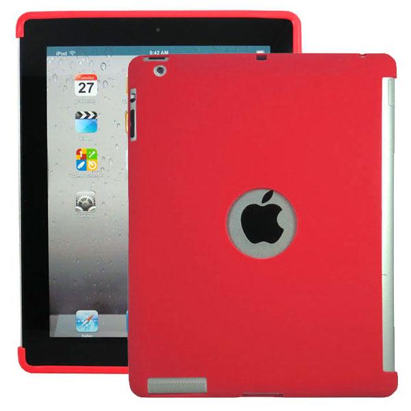 Mjukskal – Smart Cut (Röd) iPad 3 / iPad 4 Silikonskal