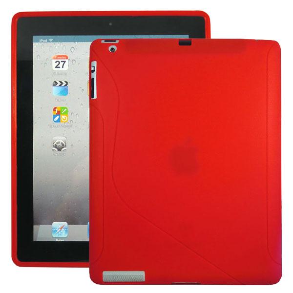 S-Line (Röd) iPad 3/iPad 4 Silikonskal