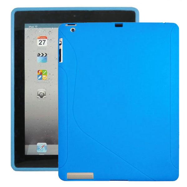 S-Line (Ljusblå) iPad 3/iPad 4 Silikonskal