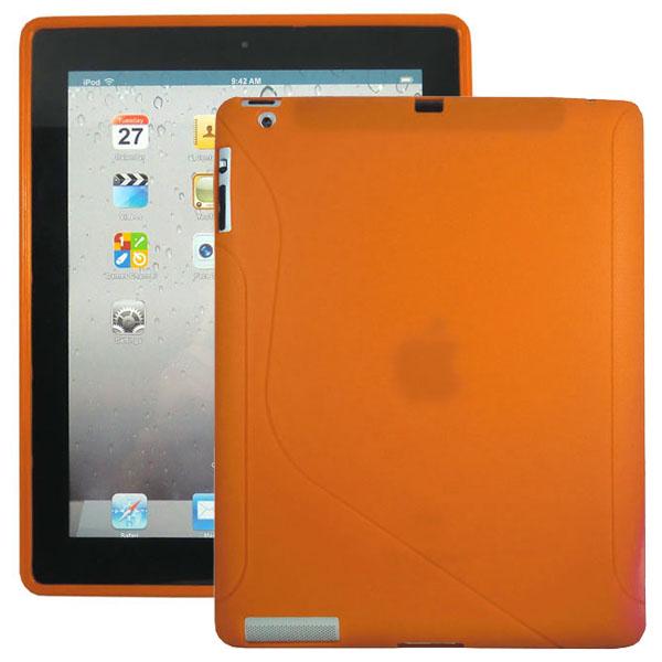 S-Line (Orange) iPad 3/iPad 4 Silikonskal