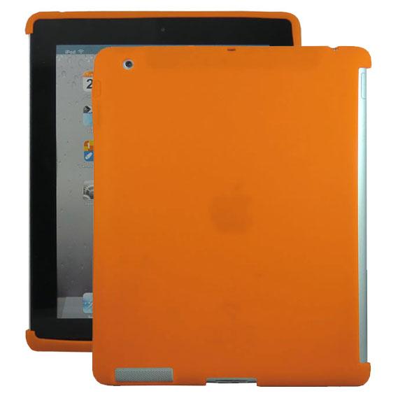 Mjukskal Smart Cut (Orange) iPad 3/iPad 4 Skal