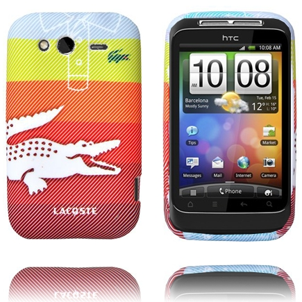 Croco Shirt (Stor Rand – Gul-Orange) HTC Wildfire S Skal