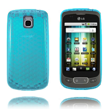 Cubes (Blå) LG Optimus One Skal
