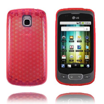 Cubes (Röd) LG Optimus One Skal