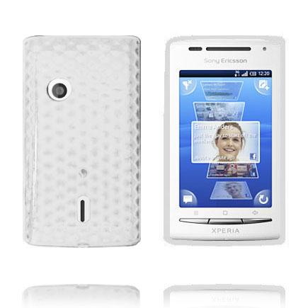 Cubes (Vit) Sony Ericsson Xperia X8 Skal
