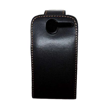 HTC Desire S Läderfodral (Svart)