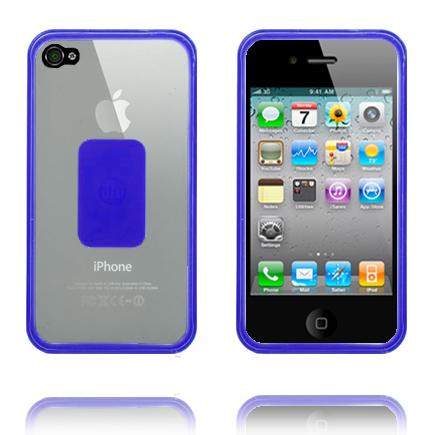 Dual Composite Bumper (Blå Kant) iPhone 4-Bumper