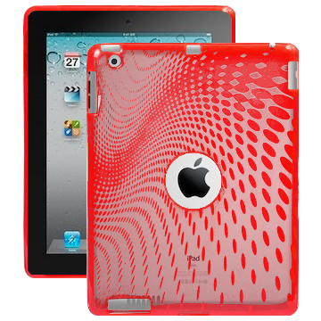 Electron Wave (Röd) iPad 2 Silikonskal